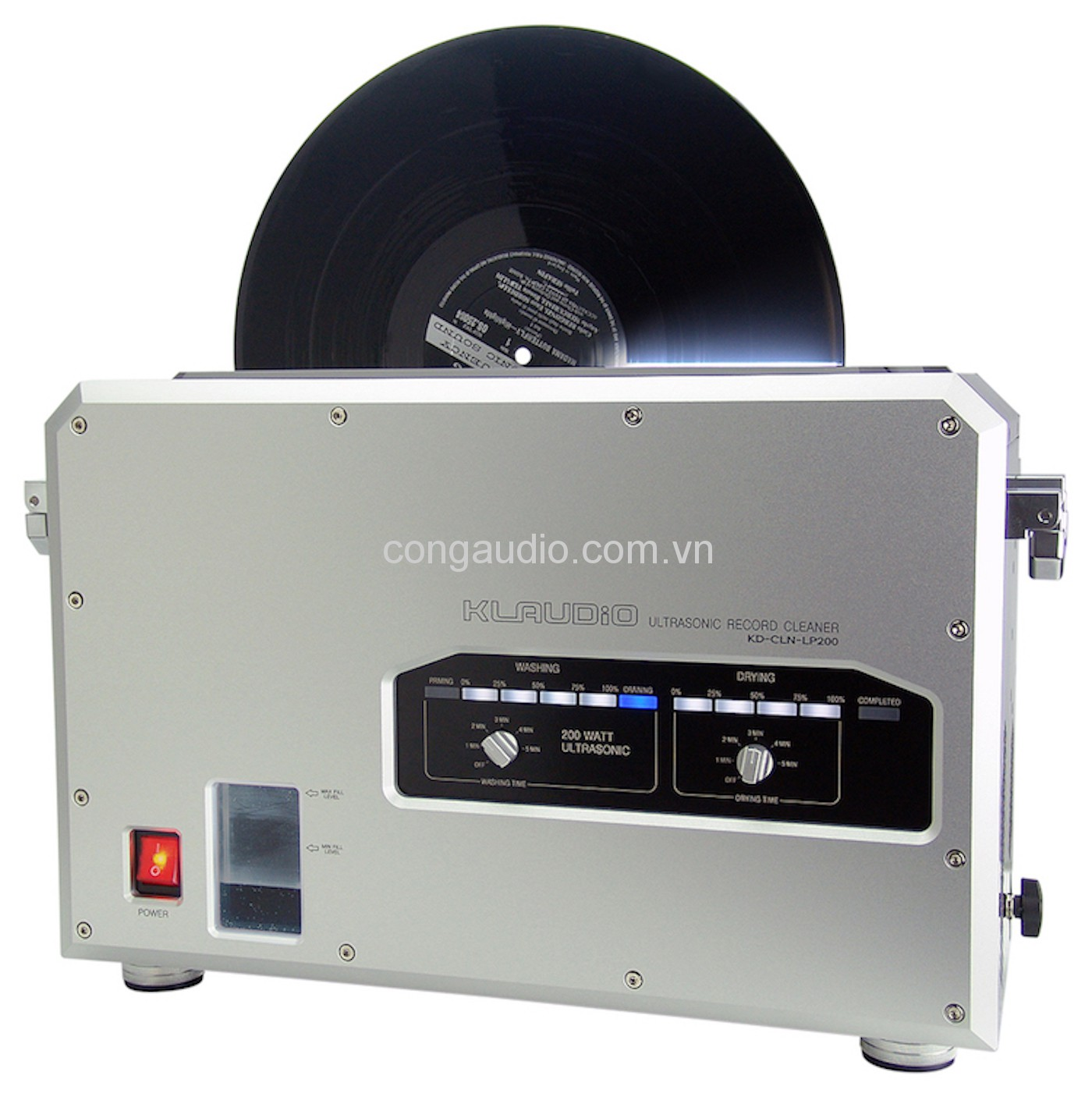 Máy rửa đĩa than | KLAudio - Ultrasonic Record Cleaner - KD-CLN-LP200